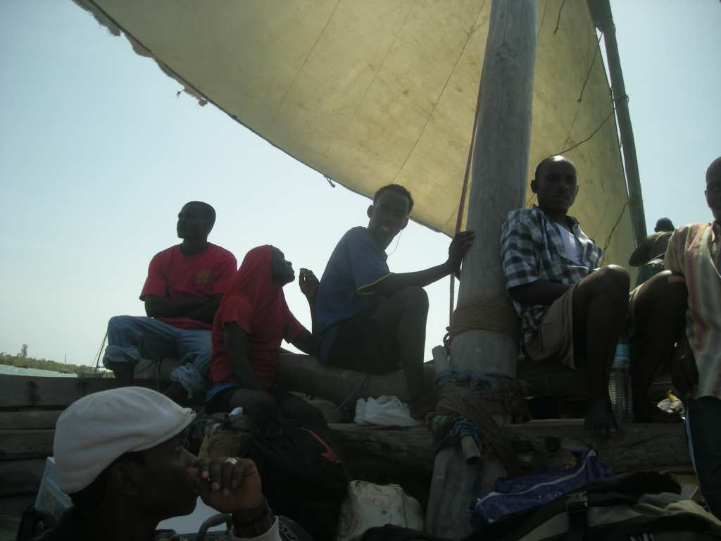 on the dhow