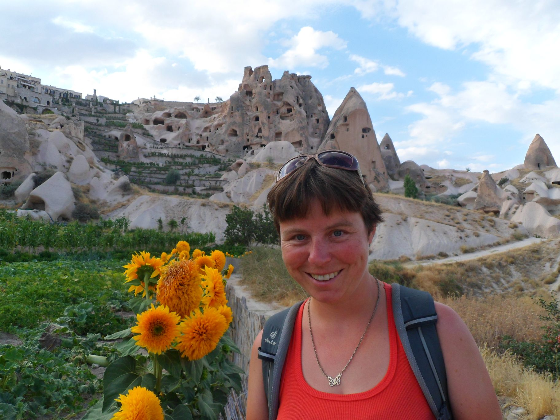 Kathrin and the Fairy flats of Uchisar