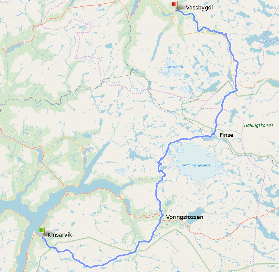 Norway2018 HikingRouteMap